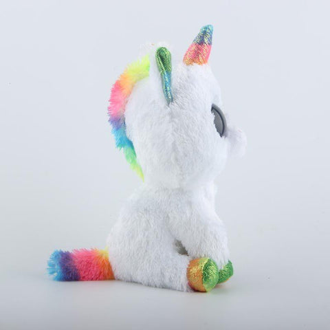 Image of Colorful White Unicorn Toy Doll