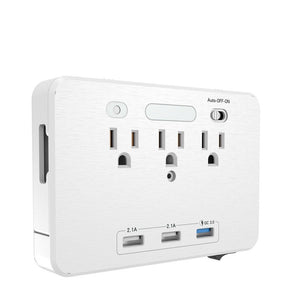 3 x AC & USB Outlet + Phone Holder