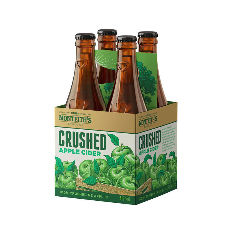 Monteith's Crushed Apple Cider 330ml - 4 Pack