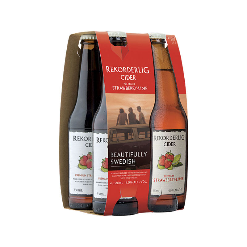 Rekorderlig Premium Strawberry & Lime Cider 330ml - 4 Pack