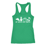 MY NEEDS ARE SIMPLE | MENS AND WOMENS TANKS
