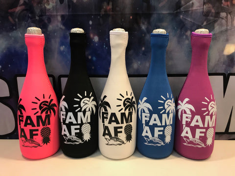 ::SOLD OUT!:: Limited FAM AF Neoprene Champagne Koozie