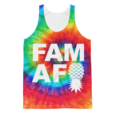 FAM AF Tie Dye - Allover Print Men's Tank!