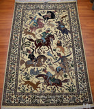 Hunting Pictorial Isfahan 4.5' x 7' - Buy Handmade Rugs Online | Carpets