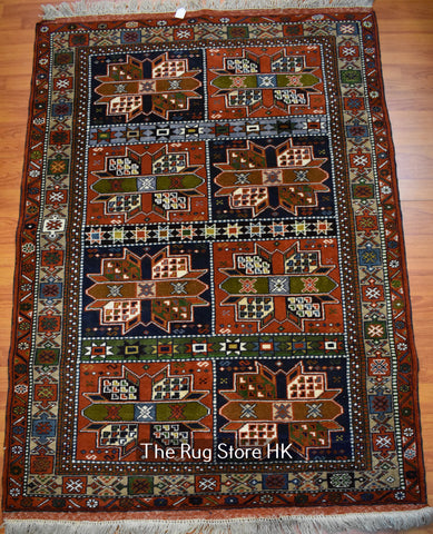 "Compartment Mashad 4""' x 6' - Buy Handmade Rugs Online 