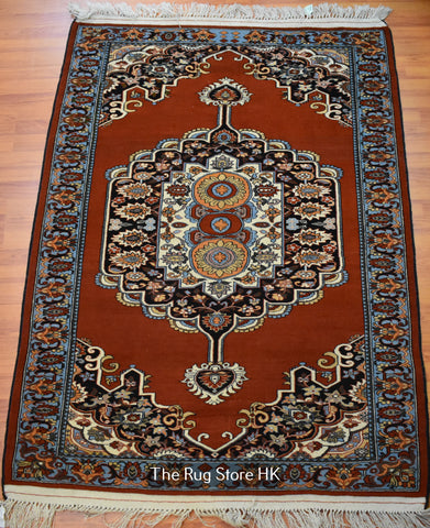 Tribal Kerman 4.5' x 6' - Buy Handmade Rugs Online | Carpets