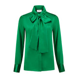 Jolly Green Bow Blouse