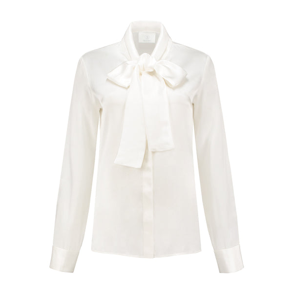 Bow Blouse White Lily Product