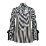 Silk Bow Blouse Zebra