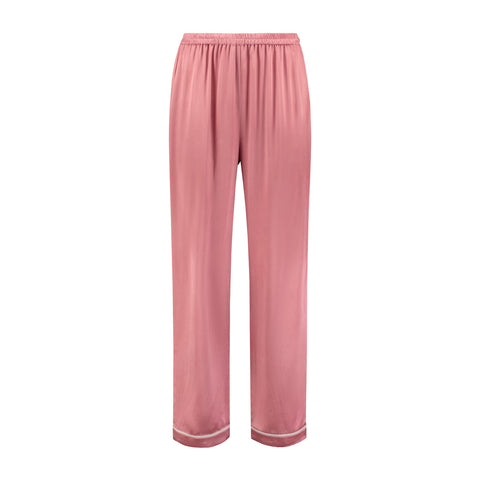 Silk Pajama Pants English Rose
