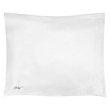 Embroidered Silk Pillow Case White