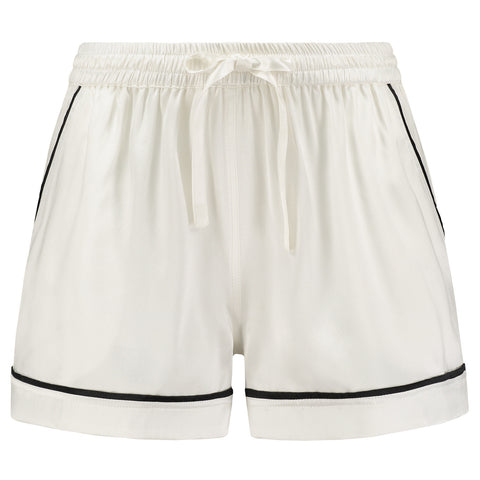 Silk Shorts White Lily