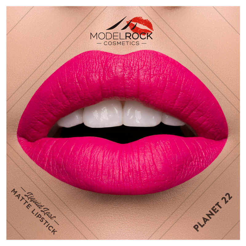 Model Rock - Liquid to Matte Longwear Lipstick **PLANET 22**