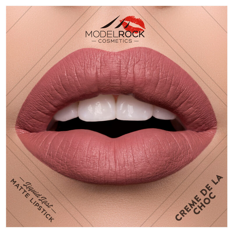 Model Rock - Liquid to Matte Longwear Lipstick **CREME DE LA CHOC**