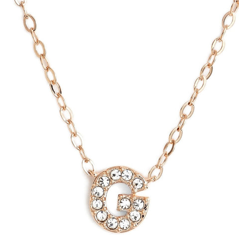 This delicate CZ pavé letter G initial necklace is perfect for every day. Adorable initial necklace featuring in silver and 18k gold finish with CZ stone. Simple, delicate and elegance, perfect to match your outfit for everyday wear or for a special event. Dainty, simple, elegant and sweet design made to keep your loved one near your heart. The perfect gift to celebrate birthday, anniversary, valentine's, Christmas or more.