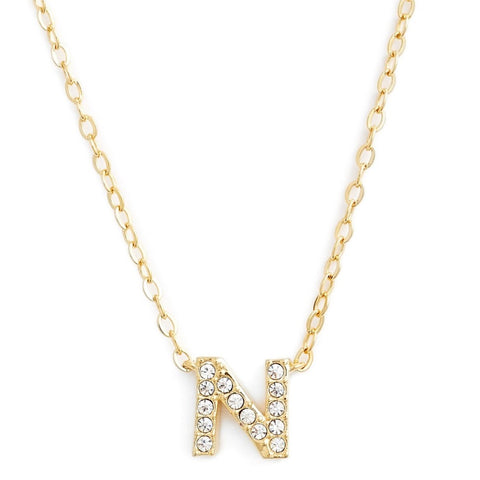 KIKICHIC This delicate CZ pavé letter N initial necklace is perfect for every day. Adorable initial necklace featuring in silver and 18k gold finish with CZ stone. Simple, delicate and elegance, perfect to match your outfit for everyday wear or for a special event. Dainty, simple, elegant and sweet design made to keep your loved one near your heart. The perfect gift to celebrate birthday, anniversary, valentine's, Christmas or more.