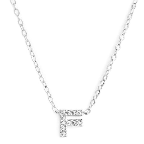 KIKICHIC This delicate CZ pavé letter F initial necklace is perfect for every day. Adorable initial necklace featuring in silver and 18k gold finish with CZ stone. Simple, delicate and elegance, perfect to match your outfit for everyday wear or for a special event. Dainty, simple, elegant and sweet design made to keep your loved one near your heart. The perfect gift to celebrate birthday, anniversary, valentine's, Christmas or more.
