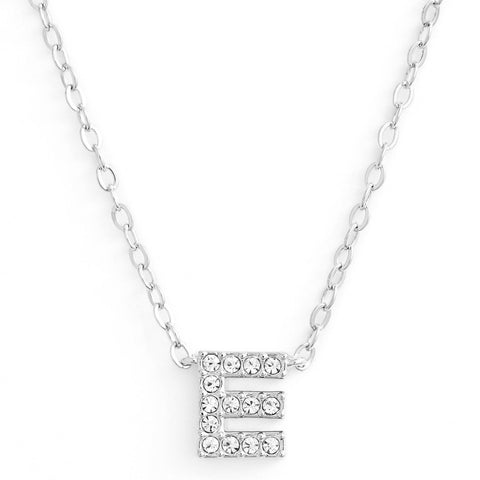 KIKICHIC This delicate CZ pavé letter E initial necklace is perfect for every day. Adorable initial necklace featuring in silver and 18k gold finish with CZ stone. Simple, delicate and elegance, perfect to match your outfit for everyday wear or for a special event. Dainty, simple, elegant and sweet design made to keep your loved one near your heart. The perfect gift to celebrate birthday, anniversary, valentine's, Christmas or more.