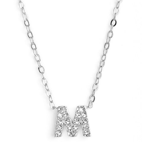 KIKICHIC This delicate CZ pavé letter M initial necklace is perfect for every day. Adorable initial necklace featuring in silver and 18k gold finish with CZ stone. Simple, delicate and elegance, perfect to match your outfit for everyday wear or for a special event. Dainty, simple, elegant and sweet design made to keep your loved one near your heart. The perfect gift to celebrate birthday, anniversary, valentine's, Christmas or more.