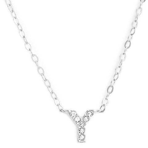 This delicate CZ pavé letter Y initial necklace is perfect for every day. Adorable initial necklace featuring in silver and 18k gold finish with CZ stone. Simple, delicate and elegance, perfect to match your outfit for everyday wear or for a special event. Dainty, simple, elegant and sweet design made to keep your loved one near your heart. The perfect gift to celebrate birthday, anniversary, valentine's, Christmas or more.