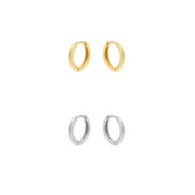 KIKICHIC Single Classic Smooth Huggie Hoop Earrings 8mm, Simple Mini Thin Hoop Earrings Sterling Silver (925), 18k Gold Minimalist Simple Hoop Huggies Everyday Earrings, Gold Tiny Simple Dainty Mini Hoops, Sterling Silver Huggies Hoops Earrings, Simple Smooth Huggies Earrings.