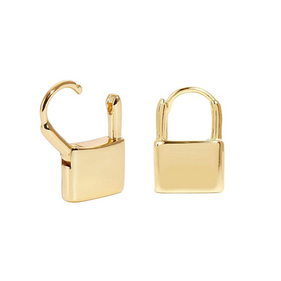 KIKICHIC Small Lock Hoop Earrings 18k Gold, Padlock Hoop Earrings Gold, Lock Hoop Earrings, Dainty Gold Lock Earrings, Hoop Lock Earrings Gold, Dangling Lock Earrings Gold, Gold Lock Charm Hoop Earrings.