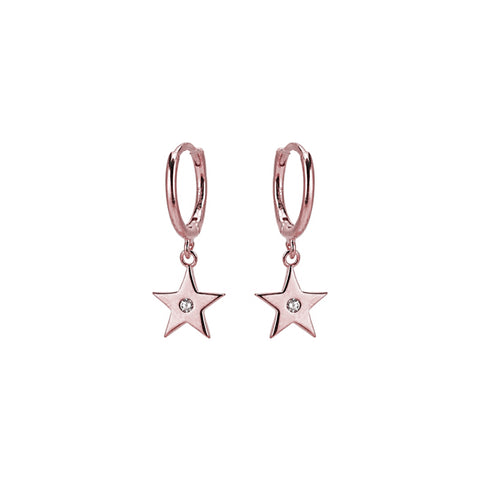 KIKICHIC CZ Star Huggies Earrings, Gold Star Hoops Earrings, Silver Star Earrings, Rose Gold Star Earrings, Diamond Star Dangle Earrings, Diamond Star Charm Tiny Hoop Huggies Earrings, Diamond Star Tiny Hoops Huggies, Sterling Silver Huggies Dangling Stars.I