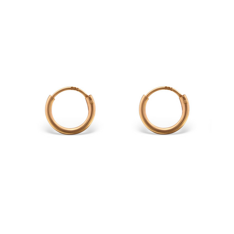 KIKICHIC 8mm Hoop Earring Gold, Tiny Sterling Silver Hoop Earrings, Hinged Hoop Earring, Endless Hoop Earrings Rose Gold, Cartilage, Black Piercings, Helix, Hoop Sleeper Earrings, Second Piercing Hoop Huggies Earrings, Ear Hugger Earrings, Sleeper Earrings