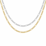 KIKICHIC Gold Figaro Link Choker Necklace, Silver Medium Thin Figaro Chain Choker Necklace, Figaro Rectangle Link Chain Necklace 14k Gold, Silver Simple Figaro Link Chain Choker Necklace, Thin Figaro Chain Gold Choker Necklace, Fine Figaro Rectangle 14k Gold Filled Choker Necklace.