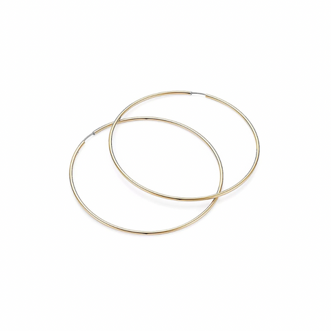 KIKICHIC 14k Gold Medium Thin Endless Hoops Earrings, Silver Thin Hoops Earrings, 50mm Thin Medium Hoops, Medium Light Hoops Earrings Hypoallergenic, 14k Gold Lightweight Thin Hoops Earrings, Gold Filled Hoops Earrings, Classic Thick Hoops Silver, 50mm Size Minimalist Hoops Gold, High Polish Hoops Earrings.