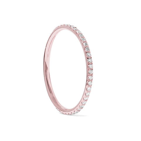 CZ Diamond Eternity Band Thin Stacking Ring
