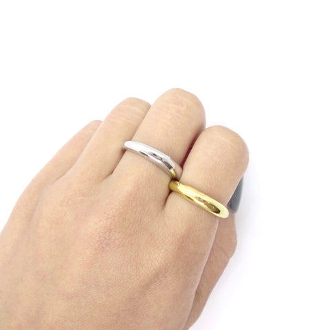 KIKICHIC Simple Thin Dome Ring Sterling Silver (925), Stack Dome Design Open Ring 18k Gold, Stackable Thin Dome Ring Gold, Simple Dome Minimalist Open Ring Adjustable 18k Gold, Simple Adjustable Open White Gold Domed Ring Silver, Modern Small Domed Ring Stacks, Solid Sterling Solid Skinny Gold Dome Bubble Open Rings.