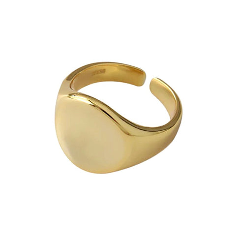 KIKICHIC Gold Round Signet Adjustable Ring, Round Gold Signet Ring, Signet Circle Ring, Silver Signet Ring Round Shape, Small Round Signet Ring, Dainty Circle Signet Ring, Adjustable Round Signet Ring, Open Round Signet Ring, Minimal Round Signet Ring, Geometric Signet Ring, Signet Round Gold Ring