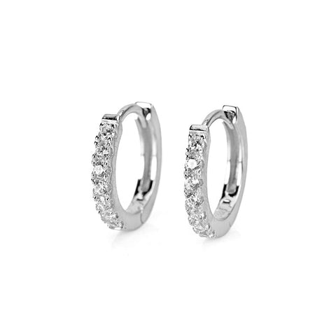 KIKICHIC CZ Diamond Classic Hoop Earrings, Gold Diamond Small Hoops Earrings, White Gold Silver Diamond Hoop Earrings, Gold Small Hoop Earrings, Diamond Medium Hoops Earrings, Diamond Gold Small Hoop Earrings, Diamond Solid Silver Classic Hoops Huggies, Sterling Silver Hoop Earrings