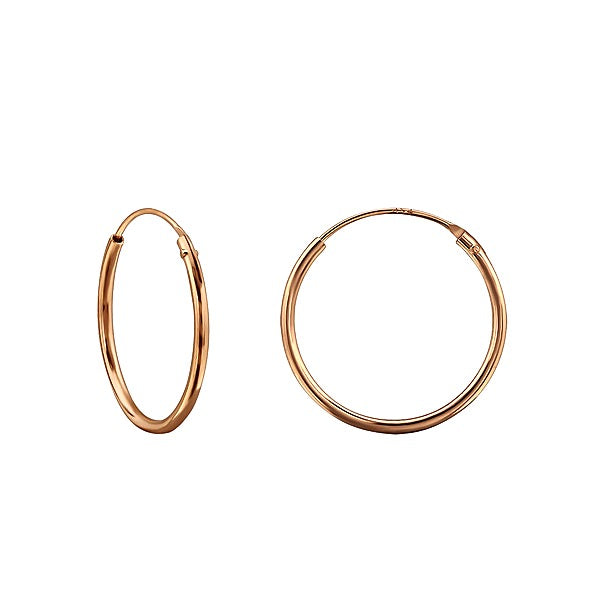KIKICHIC Smooth Hoops Earrings 18mm Solid Sterling Silver (925), 18k Gold Plated Classic Small Hoops Earrings, Rose Gold Minimalist Everyday Hoops Earrings. These solid sterling silver (925) hoops earrings may be simple, but their possibilities are endless. Perfect as a beginner's earring for young girls, or as a versatile accessory for adults, these smooth hoops can do it all