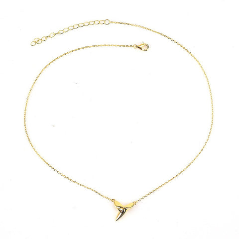 KIKICHIC Modern Shark Tooth Pendant Necklace, Tiny Shark Tooth Necklace, Dipped Gold Shark Tooth Necklace, Shark Tooth Necklace Sterling Silver, Rose Gold Shark Tooth Necklace, Minimal Shark Tooth Necklace, Dainty Silver Shark Tooth Necklace, Delicate Shark Tooth Sterling Necklace.