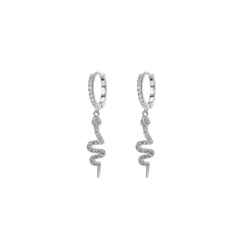 KIKICHIC CZ Pave Diamond Long Snake Huggies Hoops Earrings Gold, Diamond Silver Snake Earrings, Dainty Snake Diamond Huggies Hoops Earrings, Rose Gold Snake Dangling CZ Diamond Earrings, Long Silver Snake Pave Diamond Earrings, Diamond Serpent Hoops Earrings, CZ Dangling Snake Sterling Earrings, Crystals Serpent Dangling Earrings.