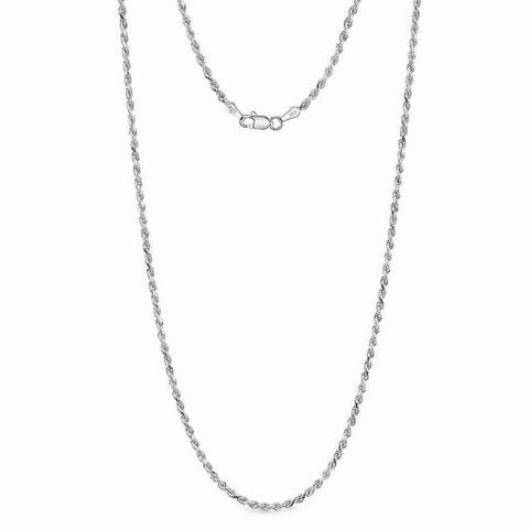 14k Gold Thin Classic Rope Chain Necklace