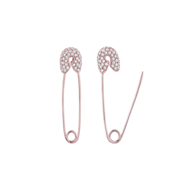 KIKICHIC CZ Diamond White Gold Safety Pin Dangling Earrings, Diamond Paper Clip Earrings, CZ Pave Diamond Gold Safety Pin Earrings, Rose Gold Safety Pin Earrings Dangling, Long Safety Pin Earrings, Rose Gold Safety Pin Earrings, Diamond Safety Pin Threader Earrings, White Gold Safety Pin Earrings, Open Close Safety Pin Earrings, CZ Diamond Safety Pin Earrings.