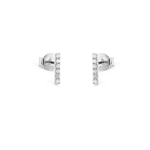 KIKICHIC Mini CZ Diamond Tiny Bar Stud Earrings Sterling Silver, CZ Diamond Pave Second Piercing Earrings Bar, Tiny Solid Bar Stud Earrings, 14k Gold Mini Thin Bar Stud Earrings, Bar Tiny Small Stud Earrings, Cartilage Bar Earrings, Diamond Bar Stud Earrings, Diamond Pave Bar Earrings.
