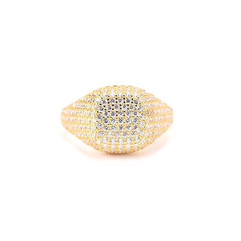 KIKICHIC Gold CZ Pave Square Signet Pinky Ring, Rose Gold Square Pinky Ring, Diamond Signet Pinky Ring, Silver CZ Pinky Ring Square Shape, Small CZ Square Signet Ring, Dainty Crystals Square Pinky Ring, Diamond Square Ring, Minimal Diamond Square Ring, Baby Square Ring, Signet Pink Ring