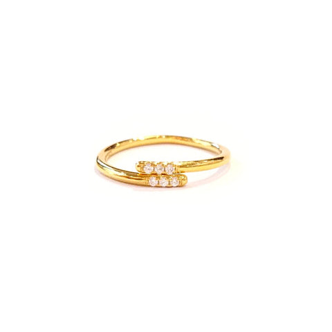 KIKICHIC CZ Diamond Simple Band Pinky Ring, CZ Diamonds Thin Band Size 4 Pinky Ring 14k Gold, Diamond Simple Band Pinky Ring Size 2.4 Sterling Silver, Rose Gold Diamond Size 3 Band Pinky Ring, Size 4 Pinky Ring, White Gold Multi Band Pinky Ring 3.