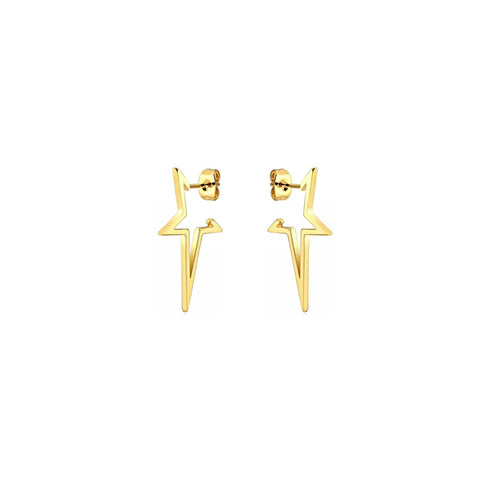 KIKICHIC Open Stars Stud Earrings in 18k Gold