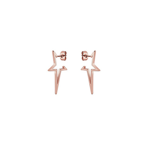 KIKICHIC Open Stars Stud Earrings in Rose Gold