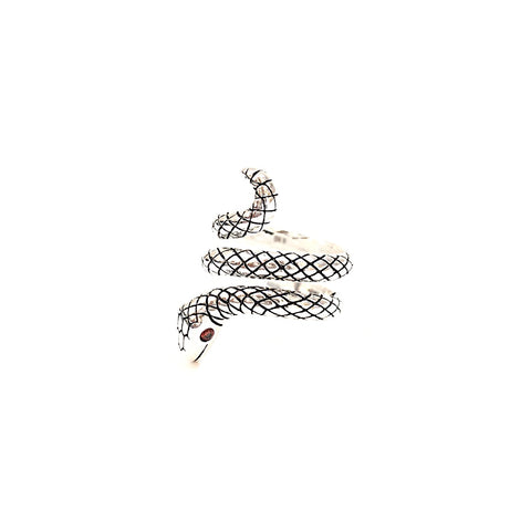KIKICHIC Snake Ring Adjustable, Serpent Ring Silver, Gold Snake Ring, Wrap Snake Ring, Snake Design Jewelry, Snake Tail Ring, Serpent Coil Ring, Statement Snake Ring, Python Ring, Vintage Snake Ring, Red Eyes Snake Rings, Triple Wrap Snake Ring