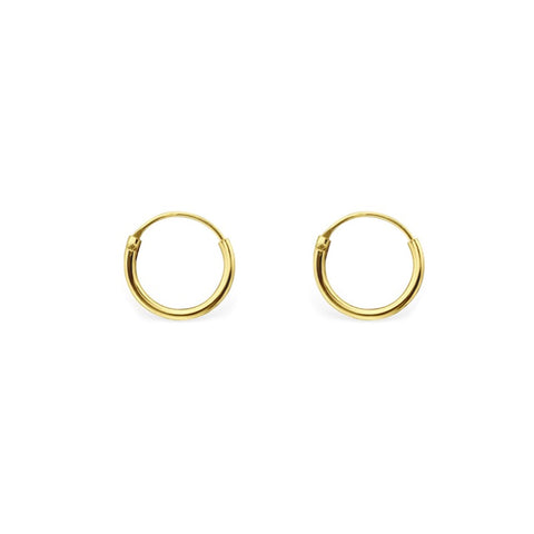 KIKICHIC 10mm Hoop Earring Gold, Tiny Sterling Silver Hoop Earrings, Hinged Hoop Earring, Endless Hoop Earrings Rose Gold, Cartilage, Black Piercings, Helix, Hoop Sleeper Earrings, Second Piercing Hoop Huggies Earrings, Ear Hugger Earrings, Sleeper Earrings