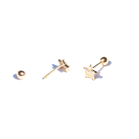 KIKICHIC Cartilage Mini Star Yellow Gold Stud Earrings, Silver Star Diamond Earrings Tragus, Diamonds Tiny Star Earrings Helix, Gold Tiny Star Earrings Conch Everyday, Star Diamond Flat Back Stud Earrings, Mini Star Pave Diamond Ball Screw Back Stud Earrings, Star Conch Stud Earrings.