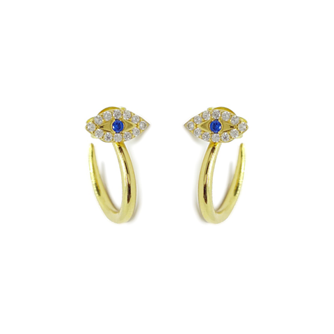 KIKICHIC 14k Gold Evil Eye Studs Open Hoops Earrings Everyday, Mini Eyes Blue Studs Hoop Earrings Gold, CZ Pave Eyes Open Hoops Earrings, Gold Fill Turkish Eye Huggies Hoops Open Tiny Stud Earrings Silver, Tiny Studs Earrings Evil Eye Gold, Silver Eyes Open Hoops Earrings.