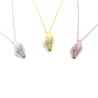 KIKICHIC Modern Conch Shell Pendant Necklace, Tiny Conch Shell Charm Necklace, Dipped Gold ConchShell Necklace, Conch Shell Necklace Sterling Silver, Rose Gold Conch Shell Necklace, Minimal Conch Shell Necklace, Dainty Silver Conch Shell Necklace, Delicate Conch Shell Sterling Necklace.