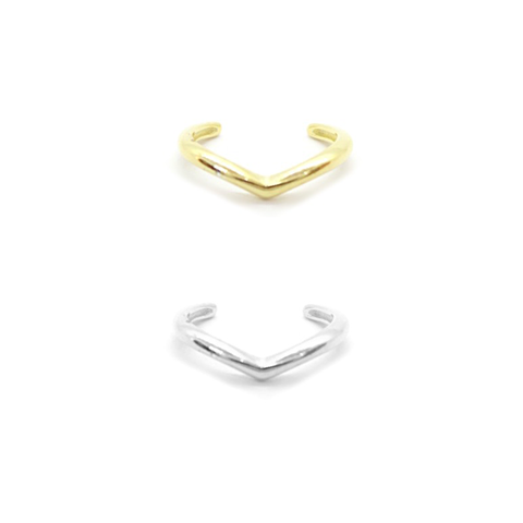 KIKICHIC Simple Smooth Chevron Ear Cuff Adjustable Sterling Silver, Classic Small Chevron Ear Cuff, 18k Gold No Piercing Necessary Earrings Chevron Helix Ear Cuff, Comfortable Chevron Ear Cuff Slip over the Ear, Chevron Helix Ear Cuff Earrings, Helix Ear Cuff Adjustable.
